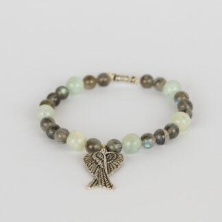 Armband aus Labradorit und Aquamarin